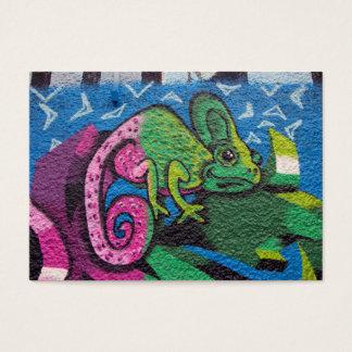 Colorful Graffiti Chameleon Business Card