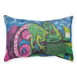 Colorful Graffiti Chameleon Pet Bed
