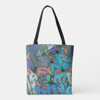 Colorful Graffiti Design Tote Bag