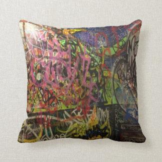 Colorful Graffiti Throw Pillow