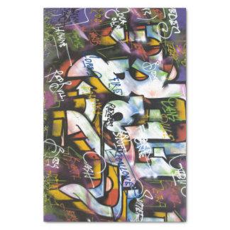 "Colorful Graffiti Words 10"" X 15"" Tissue Paper"
