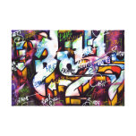 Colorful Graffiti Words Canvas Print