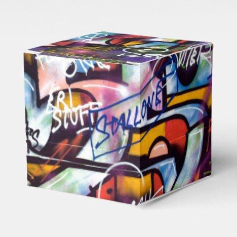 Colorful Graffiti Words Favor Box