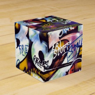 Colorful Graffiti Words Party Favor Box