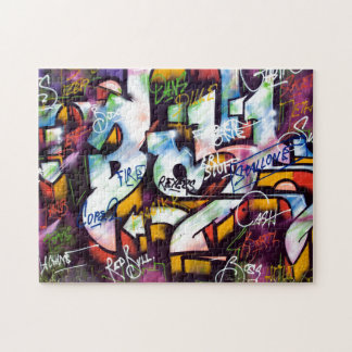 Colorful Graffiti Words Jigsaw Puzzle