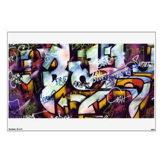 Colorful Graffiti Words Wall Sticker