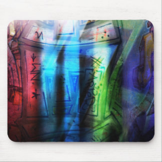 Colorful graffitis design mouse pad