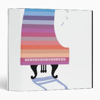 Colorful Grand Piano Vinyl Binders