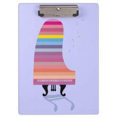 Colorful Grand Piano Clipboards