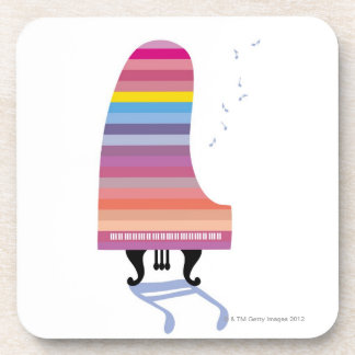 Colorful Grand Piano Coaster