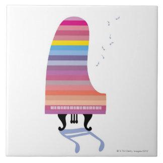 Colorful Grand Piano Tile