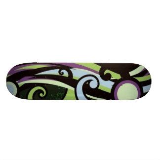 Colorful Grange Dance Abstract Skateboard