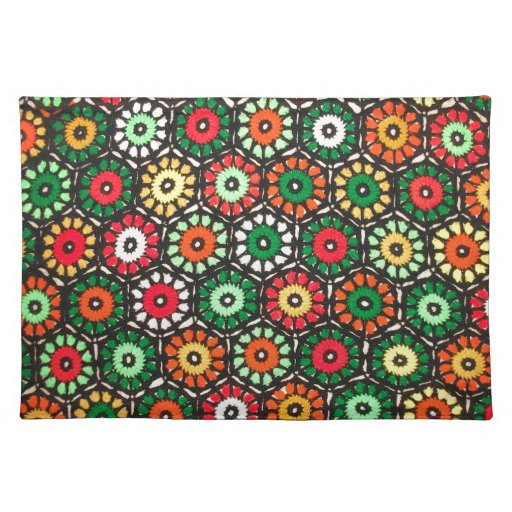 Colorful Granny Circles Crochet Pattern Cloth Place Mat