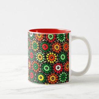 Colorful Granny Circles Crochet Pattern Coffee Mug