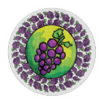 Colorful Grapes Kitchen Cutting Board