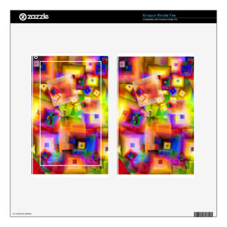 Colorful graphic-art skins for kindle fire