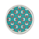 Colorful Graphic Floral Pin