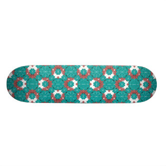Colorful Graphic Floral Skateboard