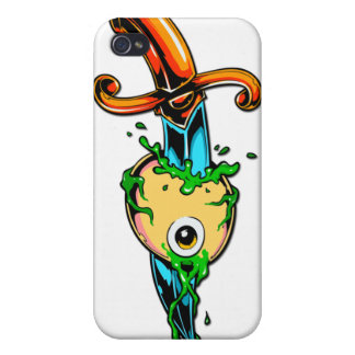 Colorful Graphic Knife in Eyeball iPhone 4 Case