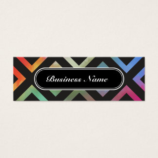 Colorful Graphic Square Pattern Mini Business Card