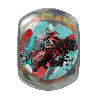 Colorful Graphic Tiger Style Jelly Belly Candy Jars