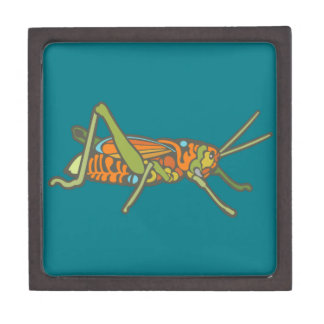 Colorful Grasshopper Keepsake Box