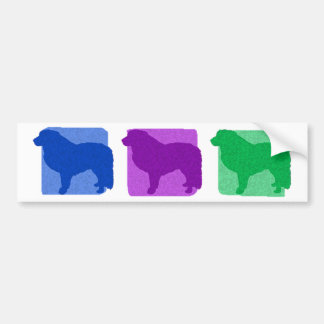 Colorful Great Pyrenees Silhouettes Bumper Sticker