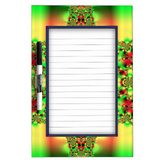 Colorful Green and Red Tartan Dry-Erase Board