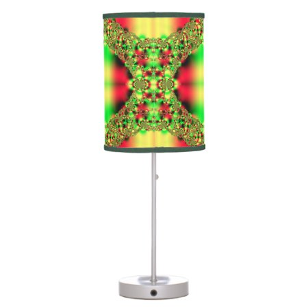 Colorful Green and Red Tartan Lamps