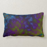 colorful green blue abstract pillows