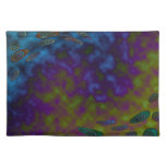 colorful green blue abstract placemat