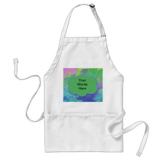 Colorful green blue splash abstract adult apron