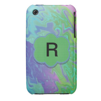Colorful Green Blue Splash Abstract iPhone 3 Case