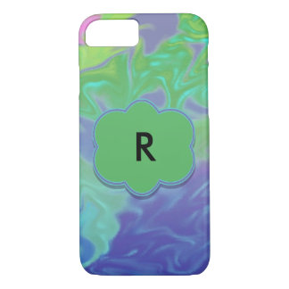 Colorful Green Blue Splash Abstract iPhone 8/7 Case
