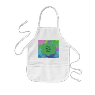 Colorful green blue splash abstract kids' apron