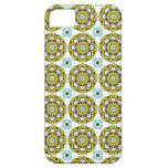 Colorful Green Brown Blue Pattern iPhone 5 Case