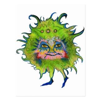 Colorful Green Germ Postcard