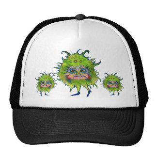 Colorful Green Germ Trucker Hat