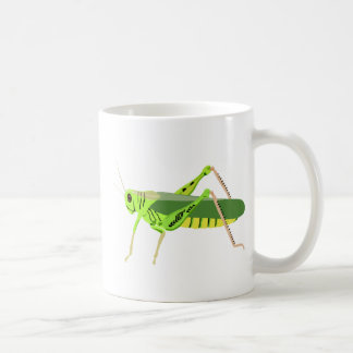 Colorful Green Grasshopper Mugs