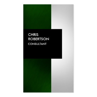 Colorful Green Gray Black Stripes Business Card