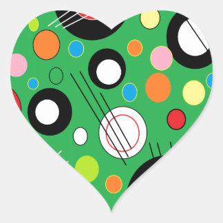 Colorful Green Heart Sticker