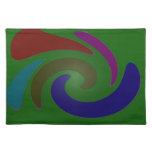 colorful green pop art placemat