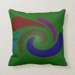 colorful green pop art throw pillow