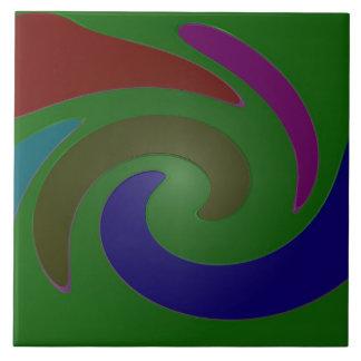 colorful green pop art tile