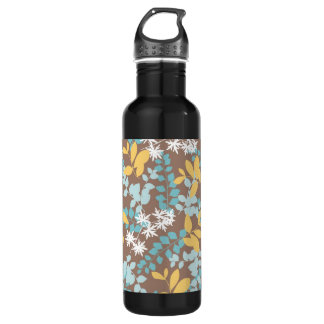 Colorful Green Red Blue Leaf Pattern Stainless Steel Water Bottle