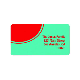Colorful green red mod address label