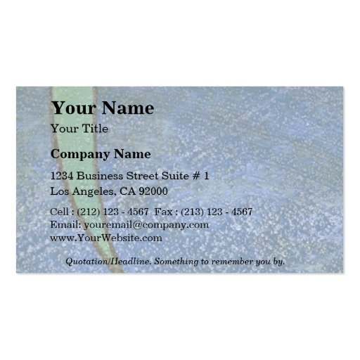 Colorful Green Ribbon Double-Sided Standard Business Cards (Pack Of 100)