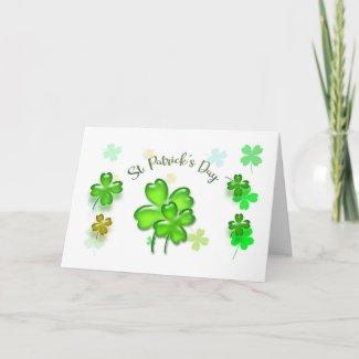 Colorful Green Shamrocks St. Patrick's Day Card