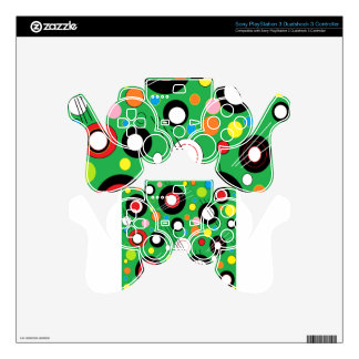 Colorful Green PS3 Controller Decal