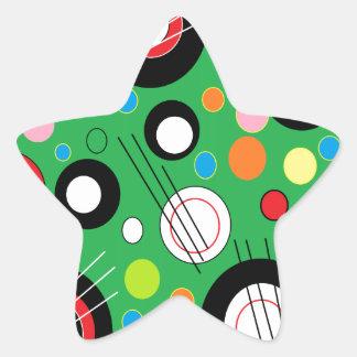 Colorful Green Star Sticker